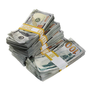 New Series $100s Aged $50,000 Blank Filler Prop Money Package - Prop Money