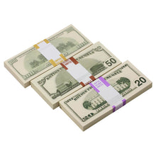 Load image into Gallery viewer, 2000 Series Mix $17,000 Blank Filler Prop Money Bundle - Prop Movie Money