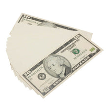 Load image into Gallery viewer, 2000 Series $10s Blank Filler $1,000 Prop Money Stack - Prop Movie Money