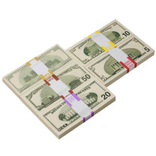 Load image into Gallery viewer, 2000 Series Mix $18,500 Full Print Prop Money Package - Prop Money