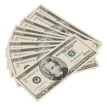 Load image into Gallery viewer, 2000 Series $20 Full Print Prop Money Stack - Prop Money