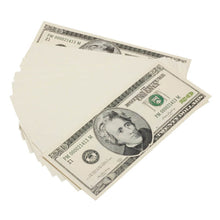 Load image into Gallery viewer, 2000 Series $20s Blank Filler $2,000 Prop Money Stack - Prop Money