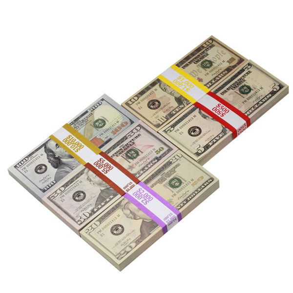 New Style Mix $18,500 Full Print Prop Money Package - Prop Movie Money