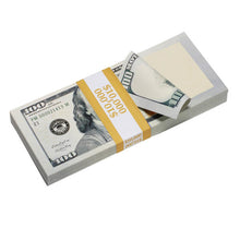 Load image into Gallery viewer, New Style $100s Blank Filler $10,000 Prop Money Stack - Prop Money