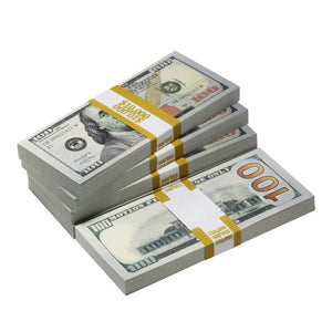 New Style $100s Blank Filler $50,000 Prop Money Package - Prop Movie Money