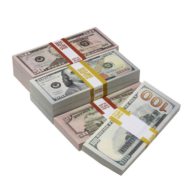 New Style Mix $60,000 Full Print Prop Money Package - Prop Movie Money
