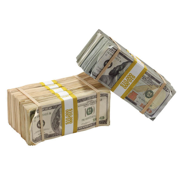 Mixed Series $100,000 Aged Full Print Prop Money Package - Prop Money