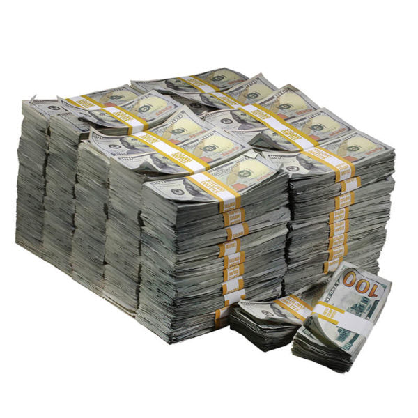 New Series $1,000,000 Aged Full Print Prop Money Bundle - Prop Movie Money