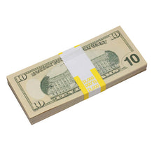 Load image into Gallery viewer, New Style $10s Blank Filler $1,000 Prop Money Stack - Prop Movie Money