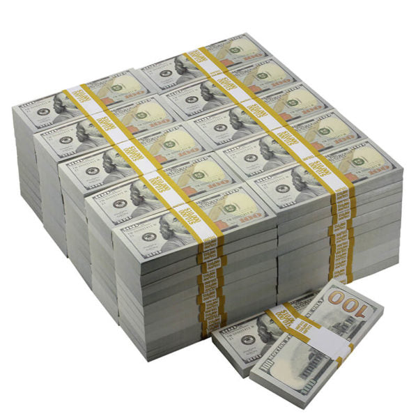 New Series $1,000,000 Blank Filler Prop Money Package