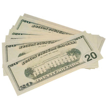 Load image into Gallery viewer, New Style $20 Full Print Prop Money Stack - Prop Money