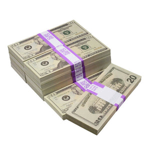 New Style $20,000 Full Print Prop Money Bundle