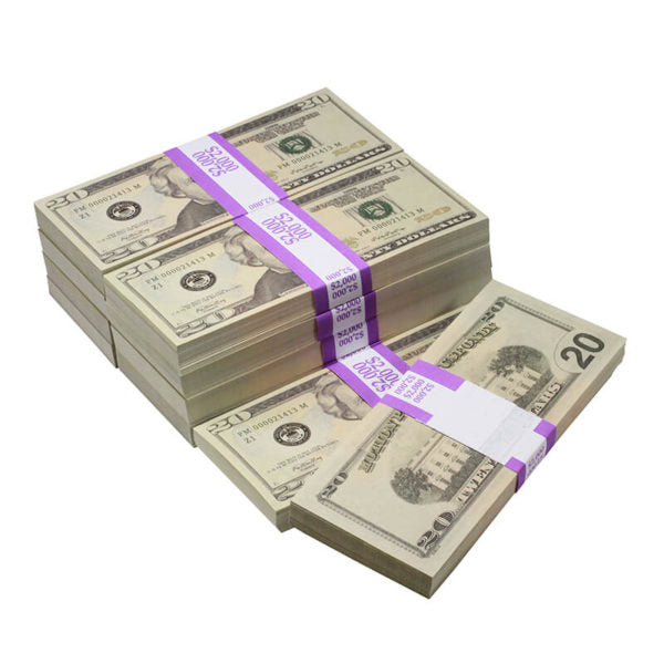 New Style $20s Full Print $20,000 Prop Money Bundle