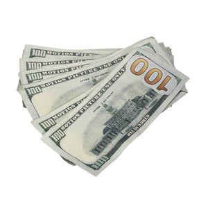 New Series $100,000 Aged Full Print Prop Money Package