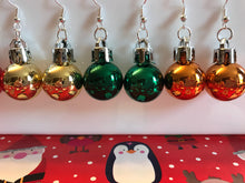 Load image into Gallery viewer, Christmas Bauble Earrings