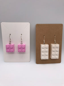 Lego 2x4 Block Earrings