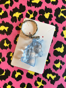 Unicorn head keyring