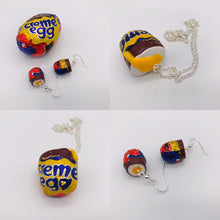 Load image into Gallery viewer, Cream Egg Earrings