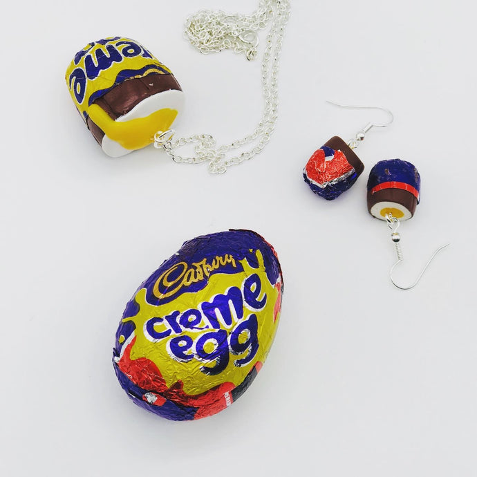 Cream Egg Earrings