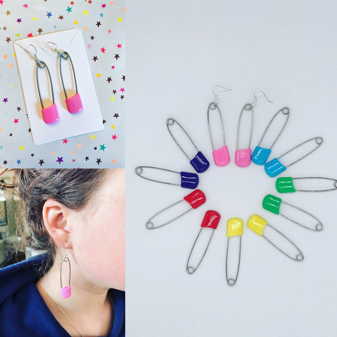 Nappy Pin 🧷 Earrings