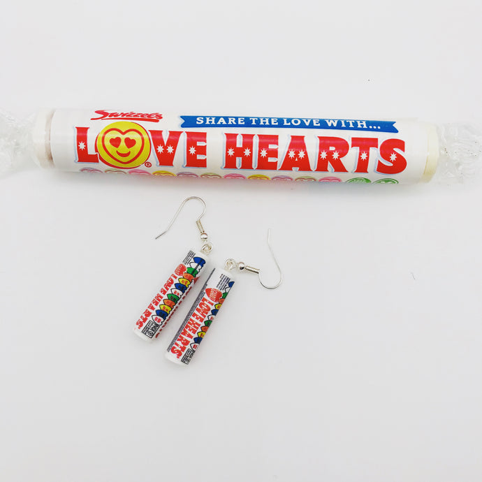 Love Heart Tube Earrings