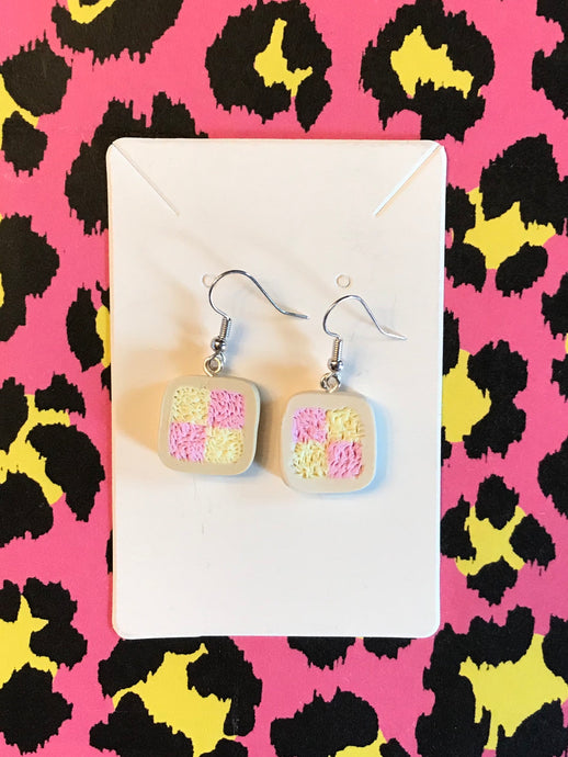 Battenburg Earrings