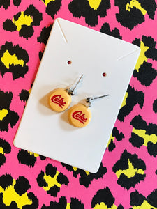 Mini Coke Cap Stud Earrings