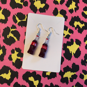 Coca Cola bottle earrings
