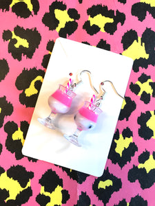 Pink Cocktail 🍹 Earrings