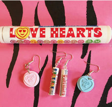 Load image into Gallery viewer, Love Heart Tube Earrings