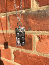 Load image into Gallery viewer, Metallic Lego block necklace