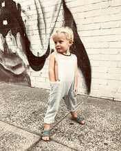 Load image into Gallery viewer, Papillon Organic Cotton Dungaree - French Grey