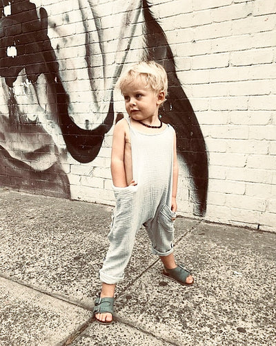 Papillon Organic Cotton Dungaree - French Grey