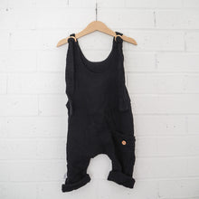 Load image into Gallery viewer, Papillon Dungaree - Black (unisex)