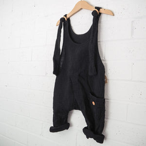 Papillon Dungaree - Black (unisex)