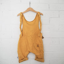 Load image into Gallery viewer, Papillon Dungaree - Mustard (unisex)