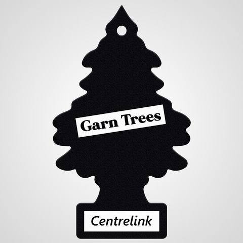 GARN TREES 'Centrelink Scent' (STICKER)