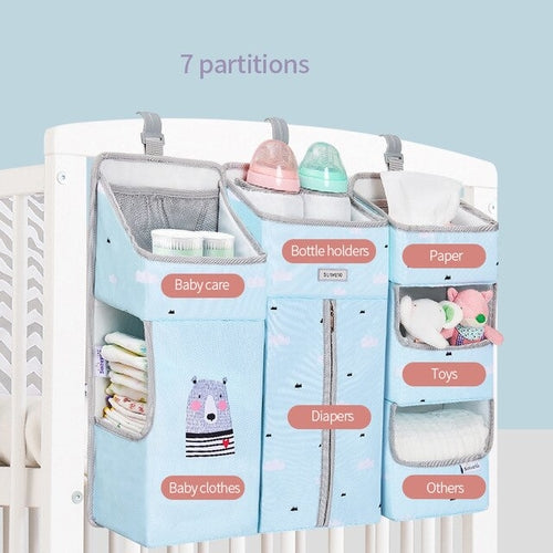 Portable Baby Crib Organizer Hanging Bag