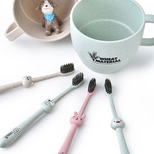 Animal Bamboo Children Toothbrush