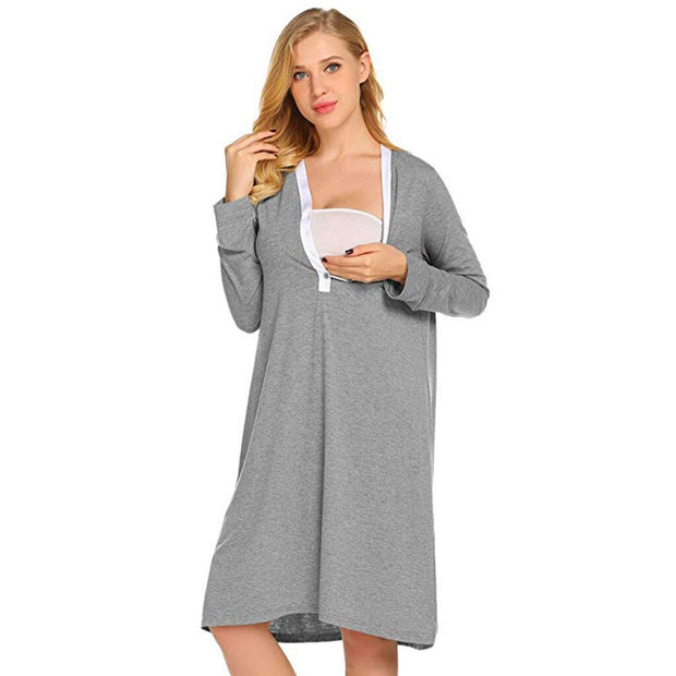 Maternity Nursing Robe Nightgowns