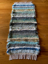 "Load image into Gallery viewer, Handwoven Table Runner Teal Series 13""W x 35""L"