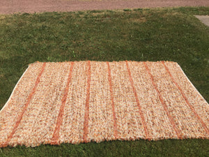 "Handwoven Area Rug Pumpkin Color  60""W x 7'L"