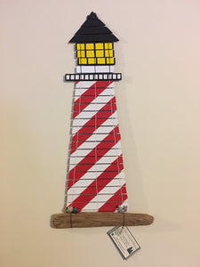 "Handwoven Tapestry White Shoal Lighthouse 10""W x 22""L"