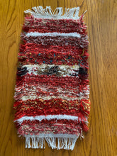 "Load image into Gallery viewer, Handwoven Tank Topper Cover Red Series  9""W x 19""L"