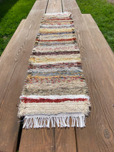 "Load image into Gallery viewer, Handwoven Earth Tone Table Runner 13""W x 50""L"