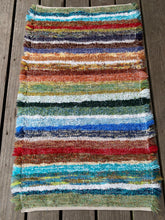 "Load image into Gallery viewer, Handwoven Rug Rainbow Colors 25""W x 42""L"