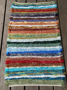 "Handwoven Rug Rainbow Colors 25""W x 42""L"