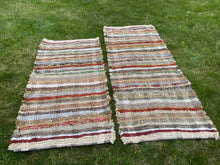 "Load image into Gallery viewer, Handwoven Rug Earth Tone 30""W x 73""L Floor Runner"