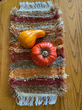 "Load image into Gallery viewer, Handwoven Tank Topper/Cover Fall Colors 8""W x 19""L"