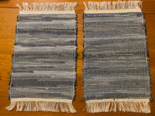 "Load image into Gallery viewer, Placemats Blue Jean Handwoven Set-2  12""W x 20""L"